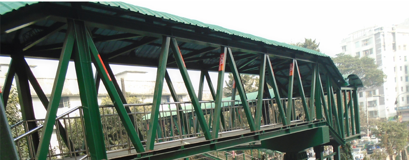 Maq Steel Footover Bridge With Excalator